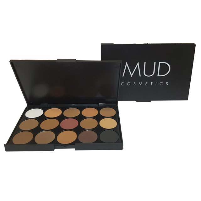 MUD Cosmetics Eyeshadow Palette - Natrual Browns 15pc