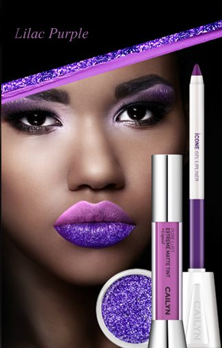 Cailyn Matte to Glitter Lip Trio - Lilac Purple
