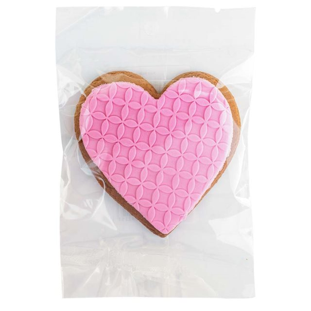 1 Pink Heart Iced Gingerbread 48g