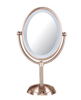 LED Lighted Mirror -Rose Gold