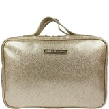 Tender Love + Carry Laminated Glitter Hanging Washbag - Gold
